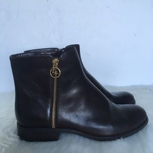 Michael Kors Brown Leather Booties / Size 9.5